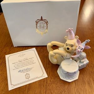 Lenox Pooh & Piglets Birthday Surprise Sculpture